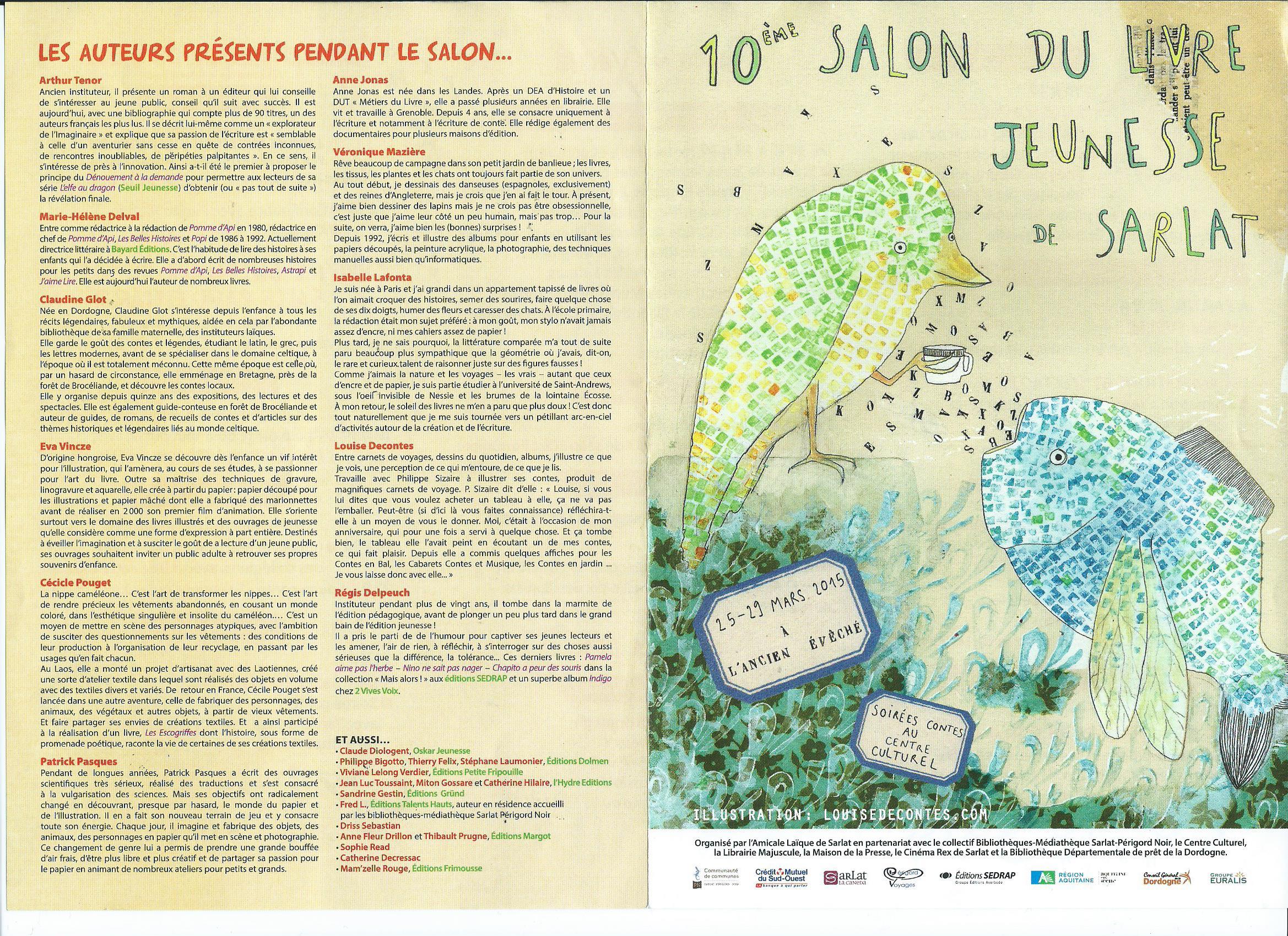 Salon du livre jeunesse de sarlat 25 29 mars 2015 for Salon jeunesse