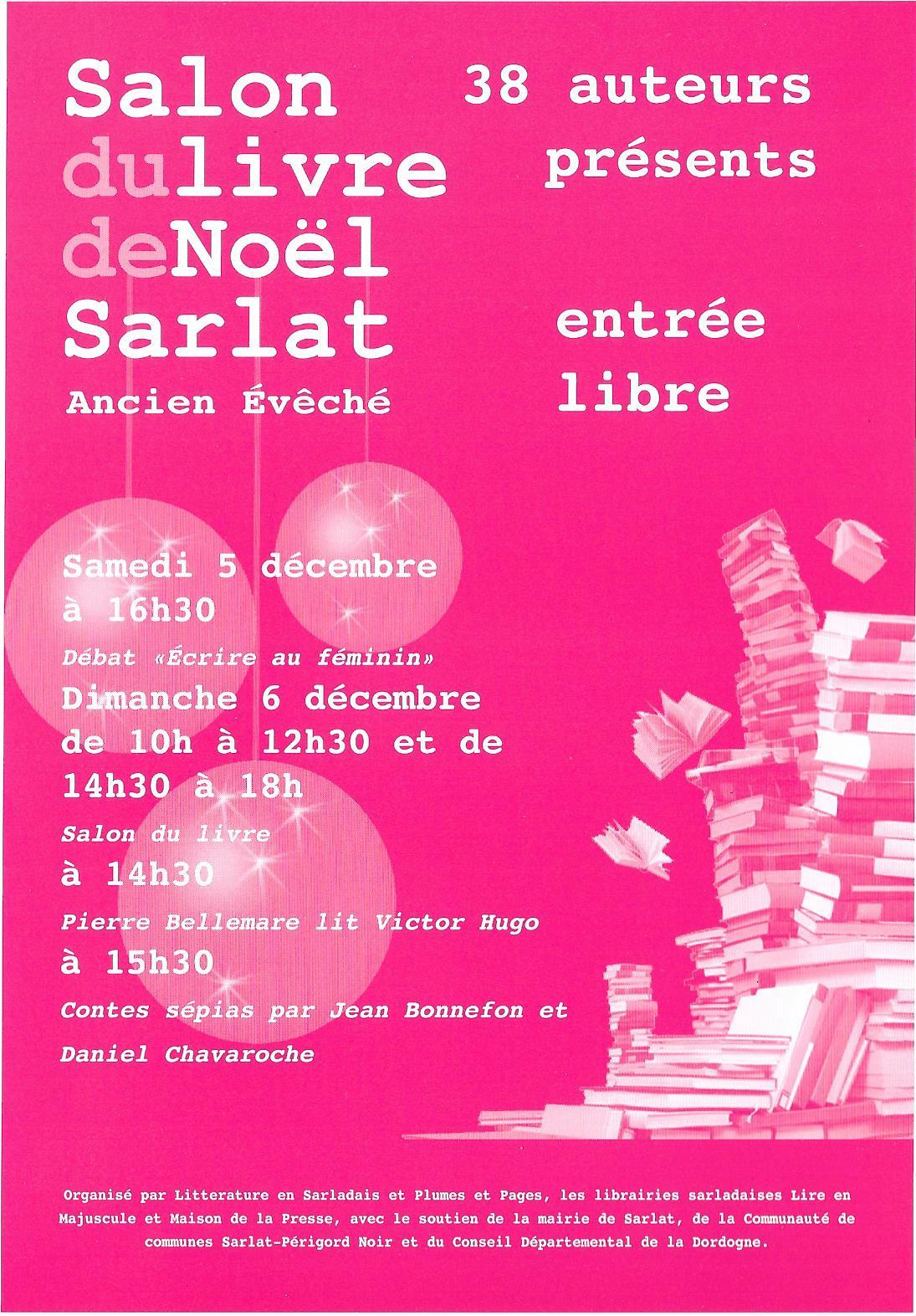 Salon du livre de no l de sarlat les 5 et 6 d cembre 2015 jean luc aubarbier ecrivain - Salon du livre brive 2015 ...